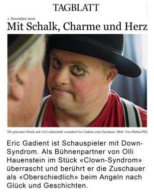 """Herr Oberschiedlich und Herr Unterschiedlich spielen """"Clown-Syndrom"""". Ein Stück derExtra-Klasse"""