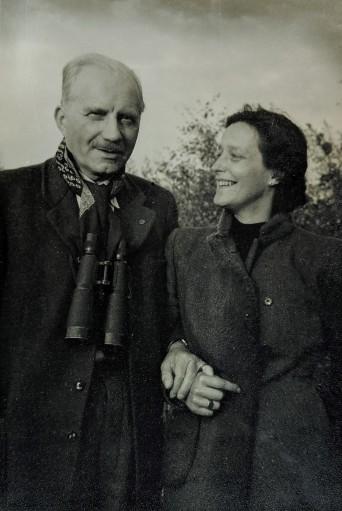 Franz Mueller-Darß ca. 1950 mit seiner dritten Frau; Ortsarchiv Born, Holger Becker 30.09.2019