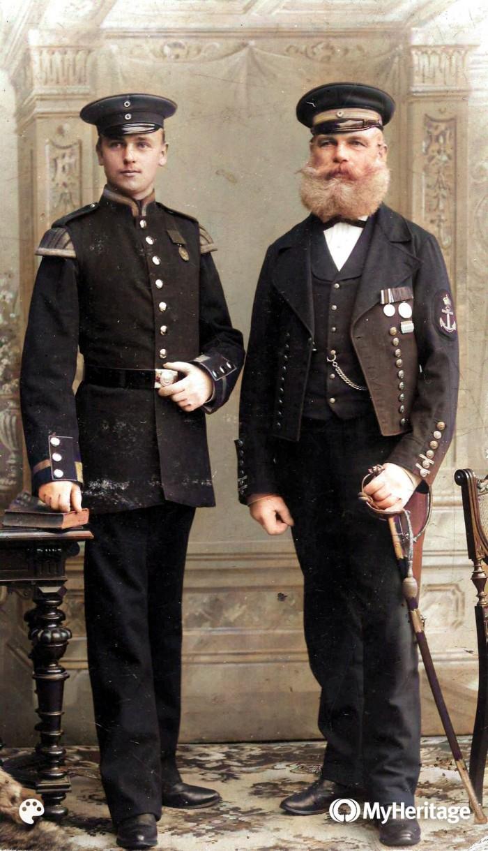 Gustav und Walter Kasparick-Colorized