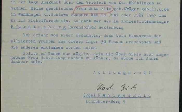 Meta Zils und der SS-Mann Mueller-Darss in Born a.Darß