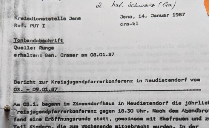 Vom Ende der DDR. Die Ökumenische Jugendversammlung vom 12. – 15. Mai 1988 in Gotha. (2). Das Umfeld im Jahre1987