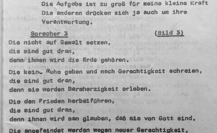 Vom Ende der DDR. Die ökumenische Jugendversammlung vom 12. – 15. Mai 1988 in Gotha (4). DieTexte.
