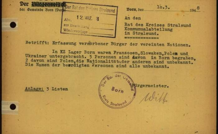 "Das ""Russengrab"" in Born a. Darss.II"